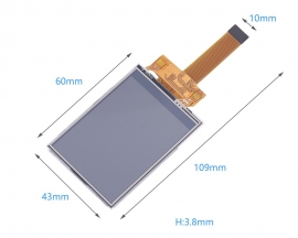 DC 3.3V 2.4inch TFT LCD Touch Display Screen 240*320 0.5mm 18Pin ILI9341 Driver 60mA 0.22W SPI Interface 240x320 Resolution