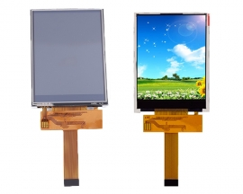 DC 3.3V 2.8inch TFT LCD Touch Display Screen 240*320 0.5mm 18Pin ILI9341 Driver 60mA 0.22W SPI Interface 240x320 Resolution