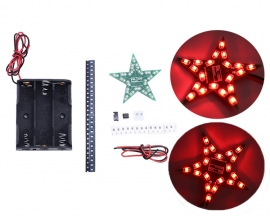DIY Kit Five-Pointed Star Breathing Light Gradient Red LED Light for Christmas SMD 0805 LED Soldering Practice