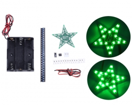 DIY Kit Five-Pointed Star Breathing Light Gradient Green LED Light SMD 0805 LED Soldering Practice