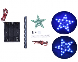 DIY Kit Five-Pointed Star Breathing Light Gradient Blue LED Light SMD 0805 LED Soldering Practice Kit