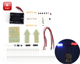 DIY Kit Red Blue Dual-Color Flashing Light Analog Traffic Signal Indicator Soldering Practice Tranining Kit