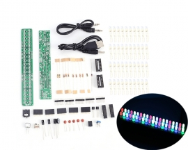 DIY Kit DC 3V-12V Audio Spectrum Indicator 5mm Red/Green/Blue LED LM3914 Level Indicator Kit
