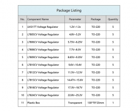 50pcs 10 Values High-Power Stabilized Transistor Kits TO-220 LM317T L7805 L7806 L7808 L7809 L7810 L7812 L7815 L7818 L7824 Component Kit