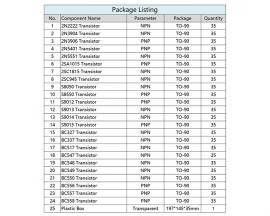 20 PEZZI Transistor S9015 PNP  Elettronica Arduino