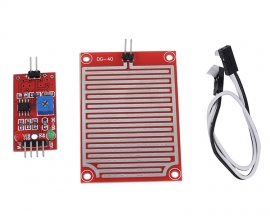 DC 3.3V 5V Raindrop Humidity Detection Sensor Module with 20cm 2P Dupont Line