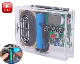 DIY Kit FM Radio Module Adjustable 76-108MHz Wireless Receiver LCD Display DC 3.7V 5W 8ohm Speaker FM Digital Radio