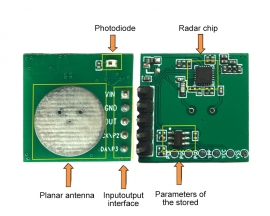 Infrared Human Body Induction 5.8G Microwave Radar Module DC 2.2V-4.8V Ultra-Low Power Distance Detector