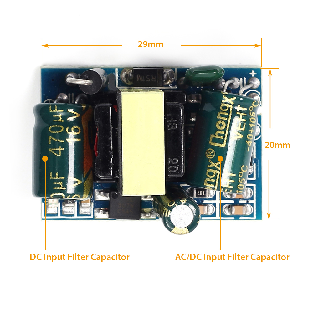 Ac Dc 33v 700ma Isolated Switching Power Supply Module 220v To High Voltage Bucking Regulator Circuit Diagram Electronic Overcurrent Protection Yes Locked Restart Restore