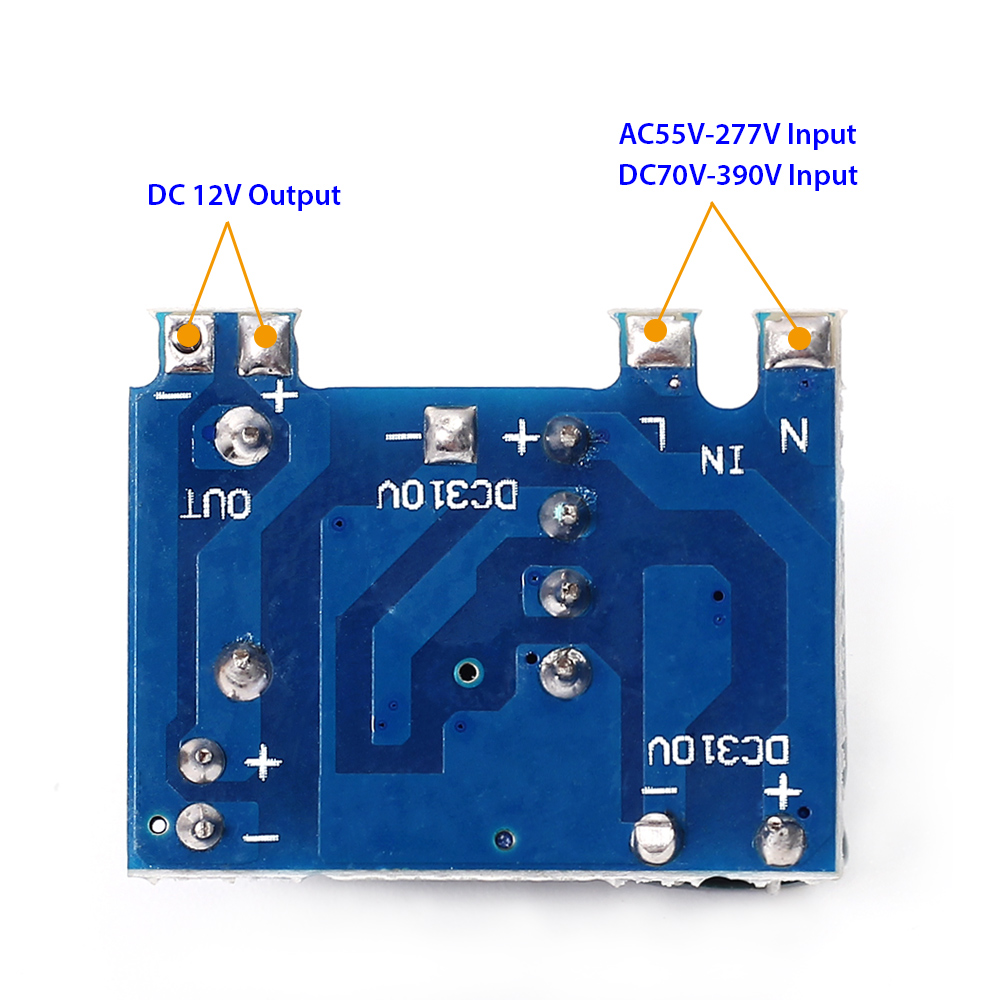 Ac Dc 12v 300ma Isolated Switching Power Supply Module 220v To Simple Converter Circuit Diagram If It Is Used In Single Live Line Intelligent Switch Remove The Led Change Starting Resistor Will Be Ok
