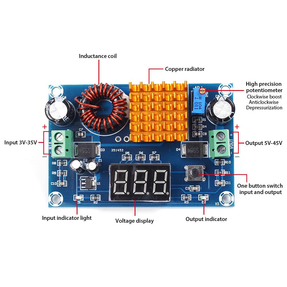 Xh M411 Dc To Digital Step Up Boost Converter Power Supply Module Simple Led Indicator Light Circuit Diyaudio Test
