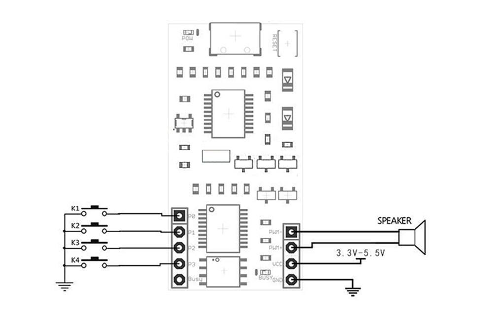 Wt588d U 32m Voice Module Mini Usb 32mbit Wav For 0 5w