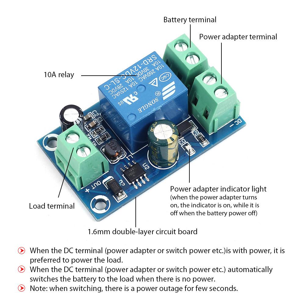 DC 5V-48V 12V 24V 10A Power OFF Battery Power Supply