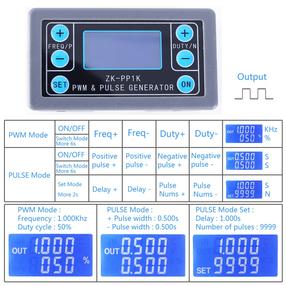 Signal Generator Square Wave Generator 1-Channel 1Hz-150KHz