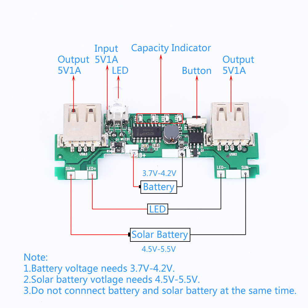 Circuit Circuit Solar Powered Lithium Ion Battery Charger Designed By