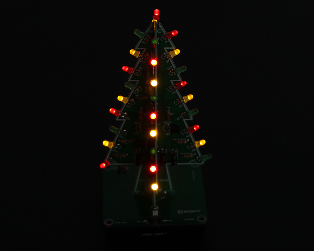 Diy Kit 3d Christmas Tree With 3 Colors Red Green Blue Flashing Ledchristmaslightingusingtransistors I Tested By Icstation