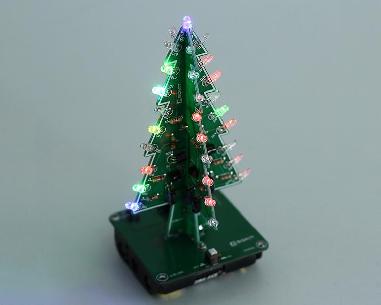 DIY 3D Xmas Tree Kit 7 Colors Flashing LED Circuit Kit Colorful ...