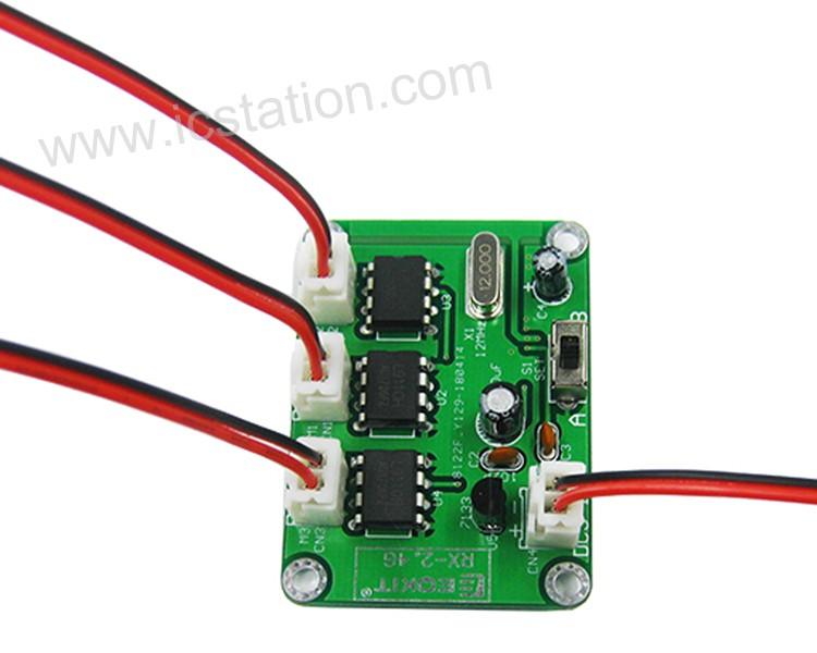 1 Set TX//RX-2.4G Wireless Module Receiver Transmitter 6-Channel Remote Control