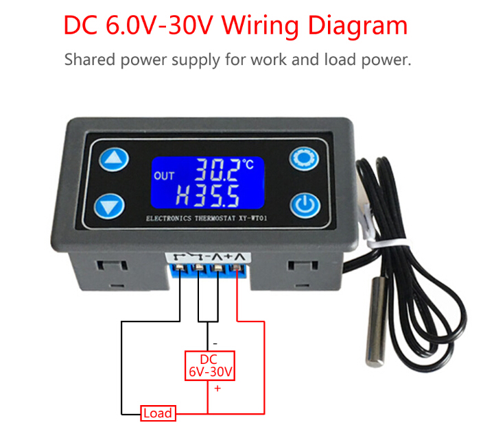 Thermostat Digital Temperature Controller LCD Display NTC ... on