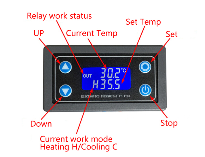 Thermostat Digital Temperature Controller Lcd Display Ntc