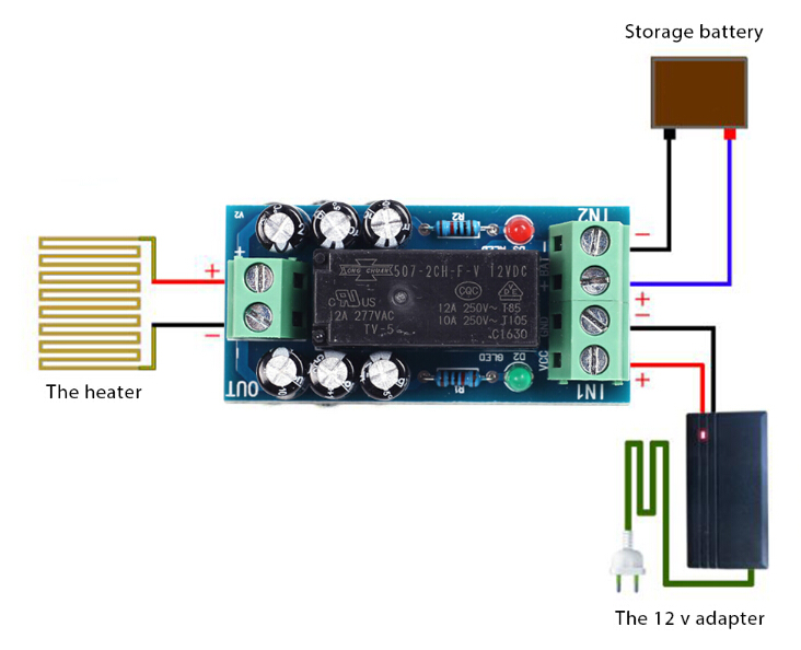 DC12V 12A Power Off Battery Emergency Power Supply Switch On Module Controller
