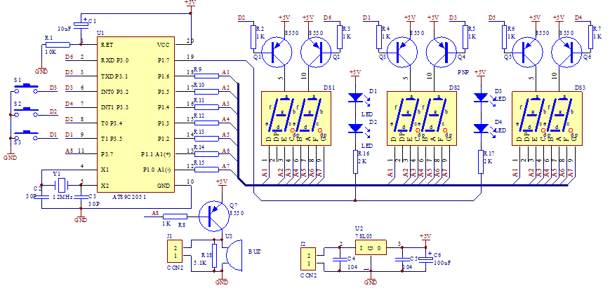 Diy Multifunction Electronic Clock Suite 5491  From