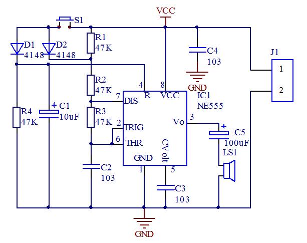 Diy Kit Electronic Doorbell Suite Ne555 Electronic