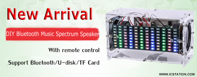 LED Spectrum Bluetooth Audio Speaker DIY Kit_GY19288