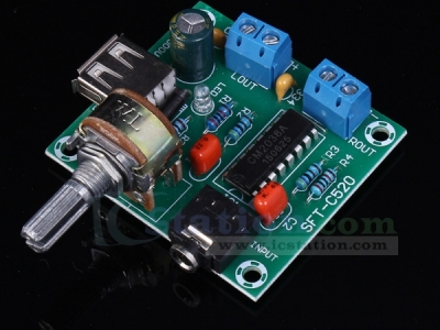 Stereo Amplifier Board Module 5Wx2 USB Power Supply DC 2-6V