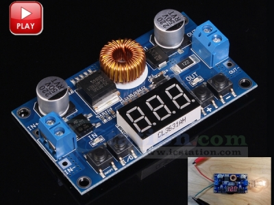 DC to DC Adjustable Step Down Buck Converter Power Supply Module DC 5-36V to 1.2V-32V with LED Voltmeter