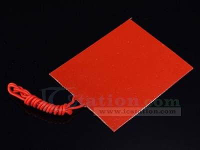 25W Silicone Rubber Panel Heating Constant Temperature Panel Plate 12V 80x100mm