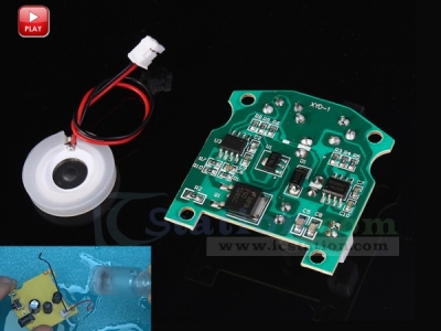 16mm 108KHz Ultrasonic Mist Maker Fogger Atomizer Transducer DC 3-12V with PCB for Ceramic Humidifier