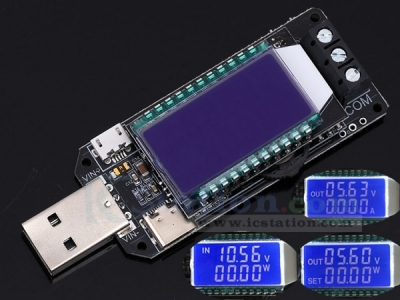 DC-DC USB Step UP/Down Power Supply Module LCD Adjustable Boost Buck Converter Voltmeter Ammeter Battery Capacity Tester Temperature Display