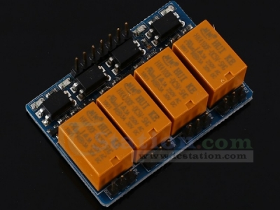 5V 4-Channel Relay Module with Optocoupler High Level Triger for Arduino