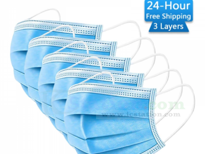50PCS Three-layer Disposable Mask Anti-Fog Anti Dust PM2.5 Protective Face Mask KP95 with High Elastic Ear Hook