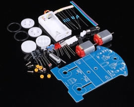 Smart Car Intelligent Robot Tracking Car D2-5 Soldering DIY Kits DC Motor Electric Accessories for Electronics Competition