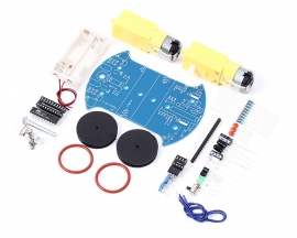 D2-2 Intelligent Tracking Line Smart Car Suite DIY Kit Motor Automobile Parts Electronic Component AT89C2051