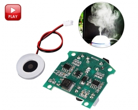 20mm 113KHz Ultrasonic Mist Maker Fogger Atomizer Ceramic Discs with Power Driver Board for Desktop Mini Humidifier