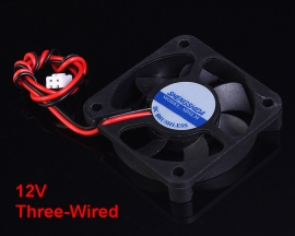 12V Double-Wired A Type Interface Silent Cooling Fan 50x10mm For Laptop PC