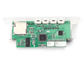 DC 5-12V Digital Audio Receiver USB SD TF Card MP3 Decoder Board Recording Time Display FM Radio Speaker Module