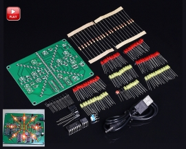 DIY Electronic Red Yellow LED Flashing Lights Lamp Soldering Practice Board DIY Learning Kits