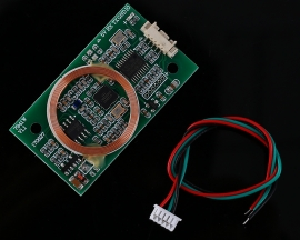 Dual Frequency RFID Reader Writer Wireless Module UART 13.56MHz 125KHz for IC/ID/Mifare Card