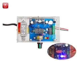 US Plug 220V DIY Kit LM317 Adjustable DC Power Supply Board Voltage Regulator Module Kits with Acrylic Case
