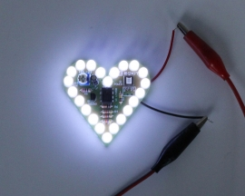 White Flashing LED DIY Kit Heart Shape Breathing Lamp Kit Electronic Kit Module DC 4V-6V