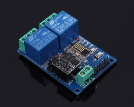 ESP8266 WiFi 12V 2 Channel Relay Module IOT Smart Home Remote Control Switch Android Phone APP Control Transmission Distance 100M