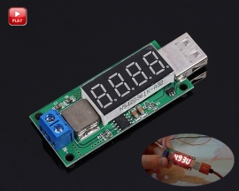 DC-DC Fast Charging Step Up USB Module Boost Converter 3V 3.7V 4.2V to 5V 2A 4 Digits Digital Display Module