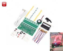 DIY Kit C51 MCU Laser Harp Kit String Electronic Keyboard Kit DIY Module Electric Production Sensor Music Controller
