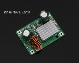 DC Step Down Module Power Supply Buck Converter Board Non-isolated Stabilizer 24V 36V 48V 72V 84V 120V to 12V 3A
