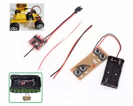 4-Channel 2.4G Wireless Transmitter Receiver Board Remote Control Kits for DIY Smart Cars Robots Differential Boats