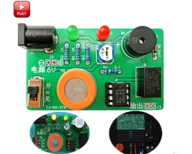 DIY Kit MQ-3 Sensor Alcohol Detector Tester Alarm System Electronic Components Suite
